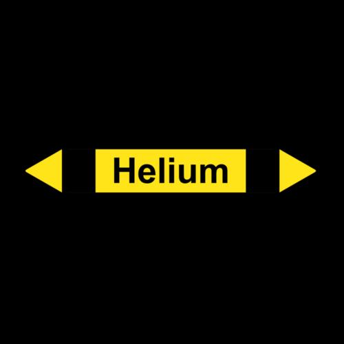 """Rohrleitungskennzeichnung """"Helium"""""""