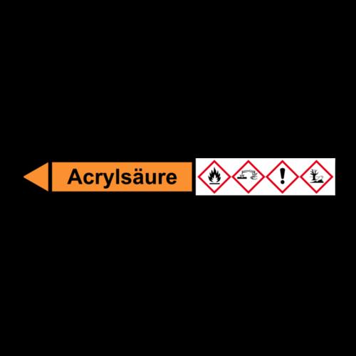"""Rohrleitungskennzeichnung """"Acrylsäure"""""""
