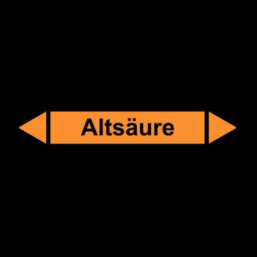 """Rohrleitungskennzeichnung """"Altsäure"""""""