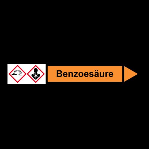 """Rohrleitungskennzeichnung """"Benzoesäure"""""""