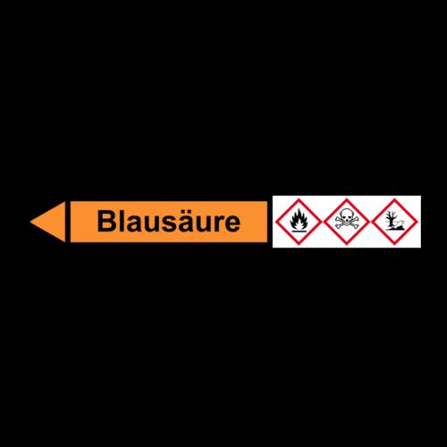 """Rohrleitungskennzeichnung """"Blausäure"""""""