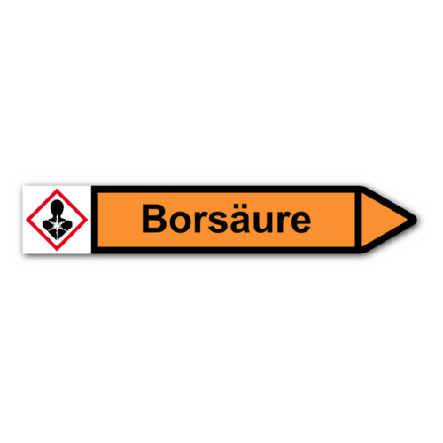 """Rohrleitungskennzeichnung """"Borsäure"""""""