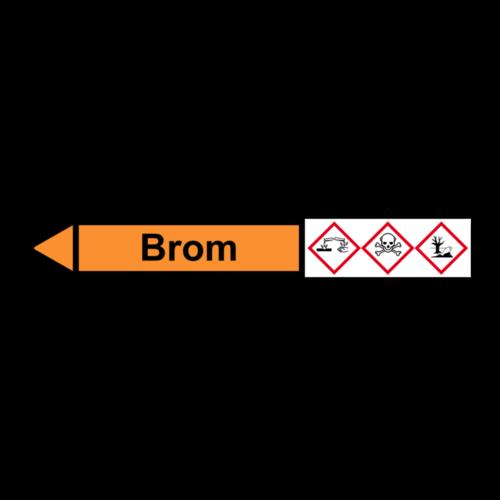 """Rohrleitungskennzeichnung """"Brom"""""""
