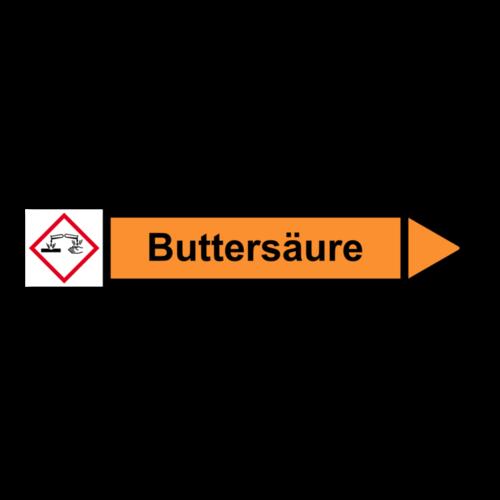 """Rohrleitungskennzeichnung """"Buttersäure"""""""