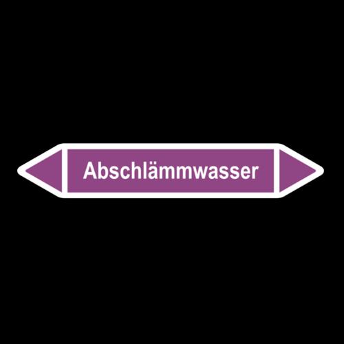 """Rohrleitungskennzeichnung """"Abschlämmwasser"""""""
