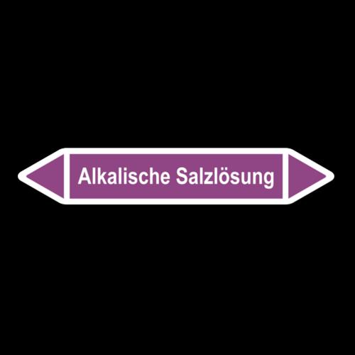 """Rohrleitungskennzeichnung """"Alkalische Salzlösung"""""""