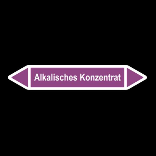 """Rohrleitungskennzeichnung """"Alkalisches Konzentrat"""""""