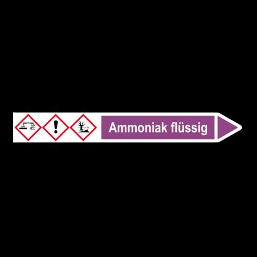 """Rohrleitungskennzeichnung """"Ammoniak flüssig"""""""
