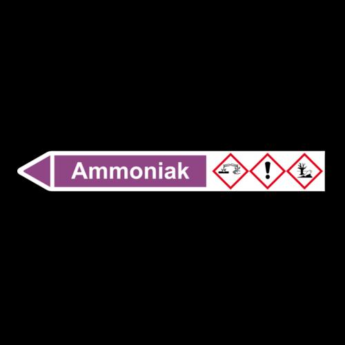 """Rohrleitungskennzeichnung """"Ammoniak"""""""