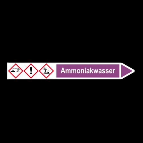 """Rohrleitungskennzeichnung """"Ammoniakwasser"""""""