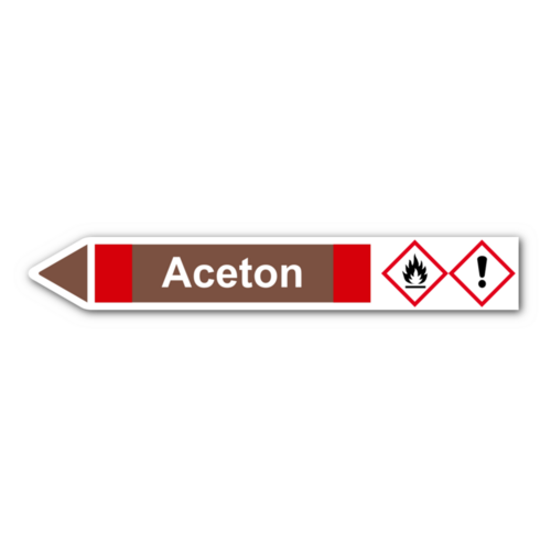 """Rohrleitungskennzeichnung """"Aceton"""""""