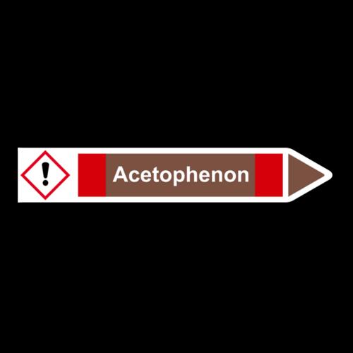 """Rohrleitungskennzeichnung """"Acetophenon"""""""