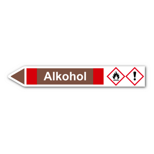 """Rohrleitungskennzeichnung """"Alkohol"""""""