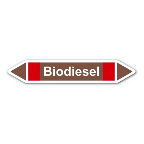 """Rohrleitungskennzeichnung """"Biodiesel"""""""