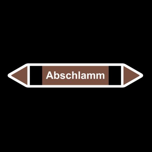 """Rohrleitungskennzeichnung """"Abschlamm"""""""
