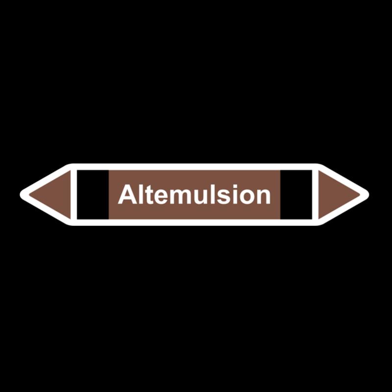 """Rohrleitungskennzeichnung """"Altemulsion"""""""