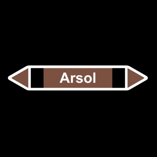 """Rohrleitungskennzeichnung """"Arsol"""""""