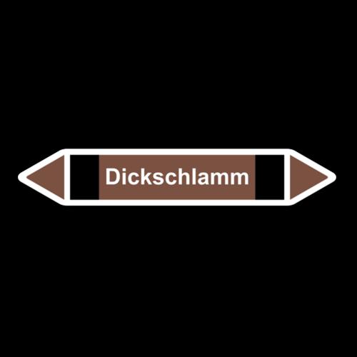 """Rohrleitungskennzeichnung """"Dickschlamm"""""""