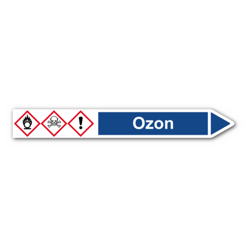 """Rohrleitungskennzeichnung """"Ozon"""""""