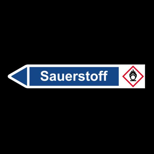 """Rohrleitungskennzeichnung """"Sauerstoff"""""""