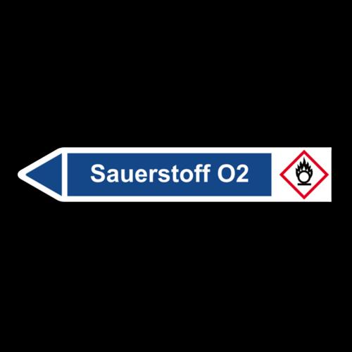 """Rohrleitungskennzeichnung """"Sauerstoff O2"""""""