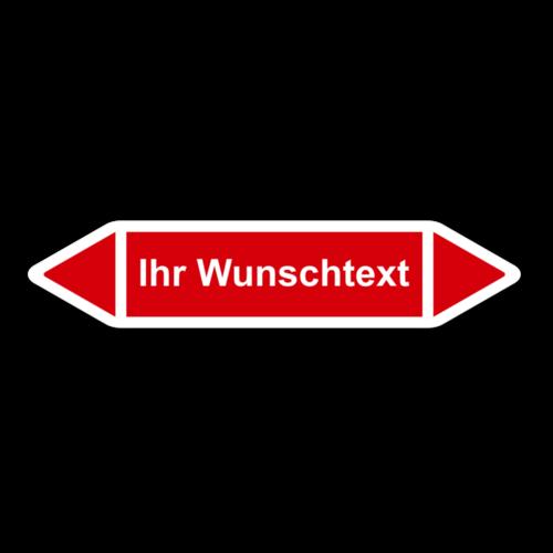 """Rohrleitungskennzeichnung """"Wunschtext"""""""
