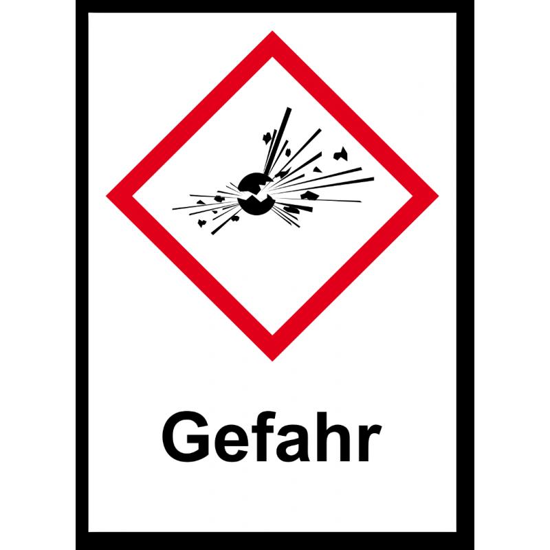"GHS Etikett ""Explodierende Bombe"" GHS01"