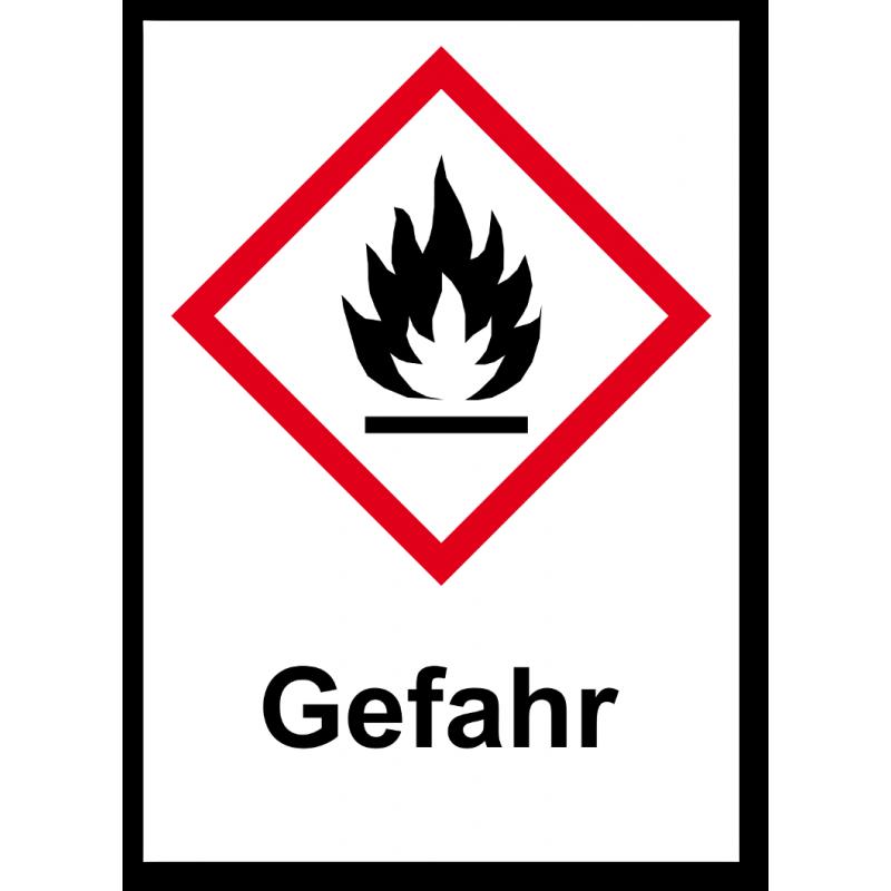 "GHS Etikett ""Flamme"" GHS02"