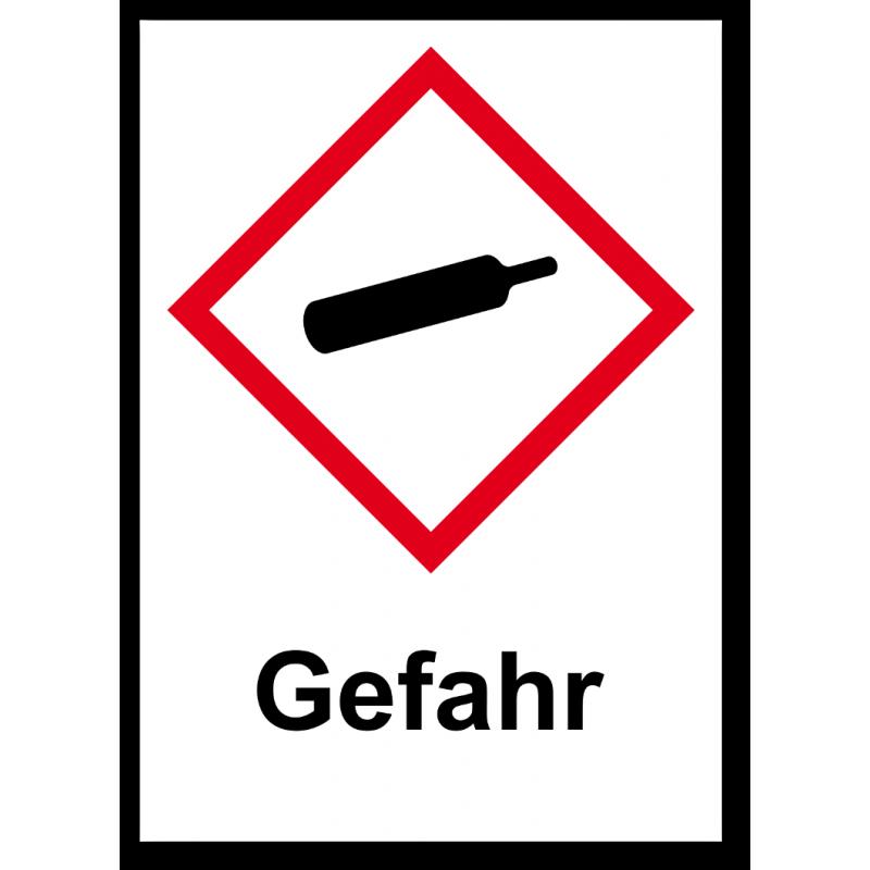 """GHS Etikett """"Gasflasche"""" GHS04"""
