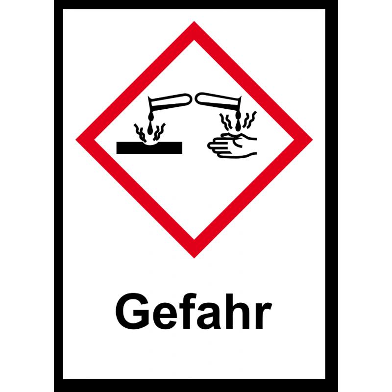 """GHS Etikett """"Ätzwirkung"""" GHS05"""