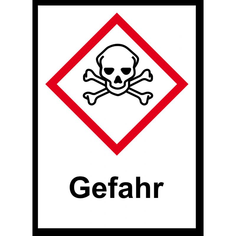 """GHS Etikett """"Totenkopf mit gekreuzten Knochen"""" GHS06"""