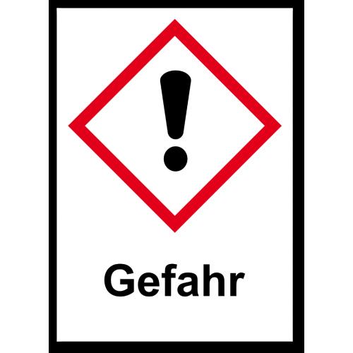 """GHS Etikett """"dickes Ausrufezeichensymbol"""" GHS07"""