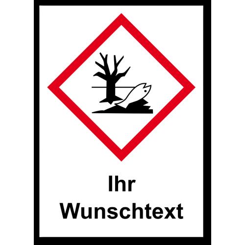 """GHS Etikett Wunschtext """"Umwelt"""" GHS09"""