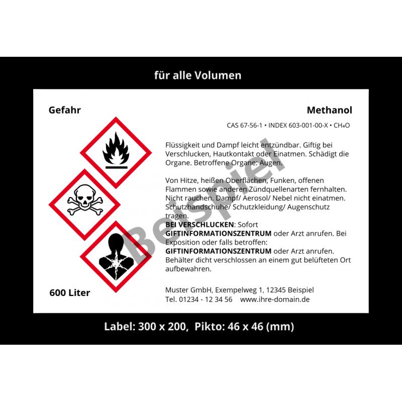 "Frei konfigurierbares GHS-Etikett ""Wunschtext"""