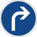 Vorgeschriebene Fahrtrichtung rechts - StVO-209-20
