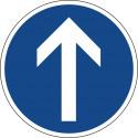 Vorgeschriebene Fahrtrichtung geradeaus - StVO-209-30
