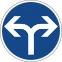 Vorgeschriebene Fahrtrichtung links oder rechts - StVO-214-30
