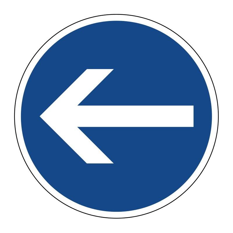 Vorgeschriebene Fahrtrichtung hier links - StVO-211-10