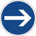 Vorgeschriebene Fahrtrichtung hier rechts - StVO-211-20
