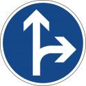 Vorgeschriebene Fahrtrichtung geradeaus oder rechts - StVO-214-20