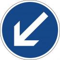 Vorgeschriebene Vorbeifahrt links vorbei - StVO-222-10