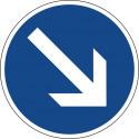 Vorgeschriebene Vorbeifahrt rechts vorbei - StVO-222-20