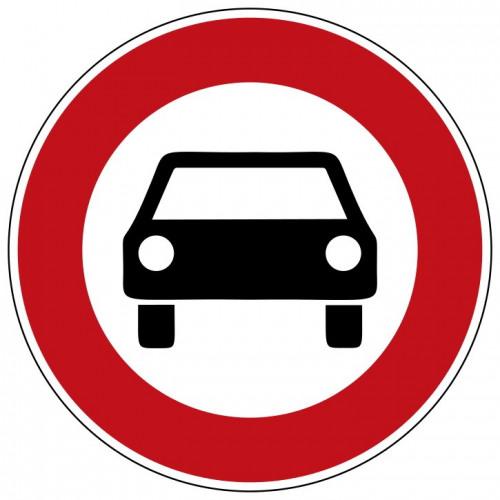 Verbot für Kraftwagen und sonstige mehrspurige Kraftfahrzeuge - StVO-251