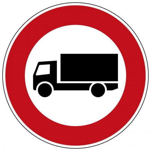 Verbot für Kraftfahrzeuge m. einer zul. Gesamtmasse üb. 3,5 t, einschl. ihrer Anhänger, und f. Zugmaschinen. - StVO-253