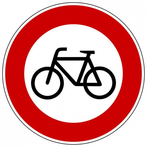 Verbot für Radfahrer - StVO-254