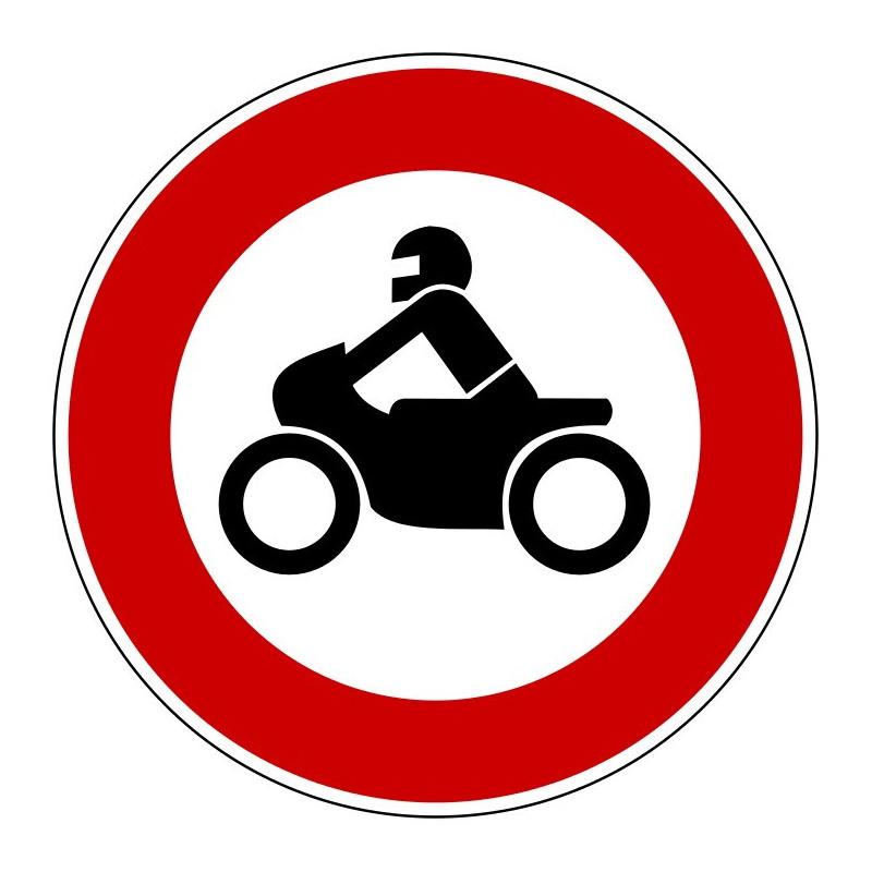 Verbot für Krafträder, auch mit Beiwagen, Kleinkrafträder und Mofas - StVO-255