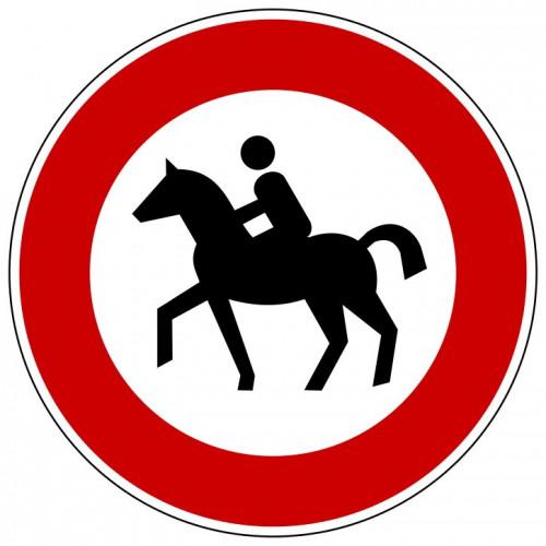 Verbot für Reiter - StVO-257-51