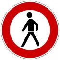 Verbot für Fußgänger - StVO-259