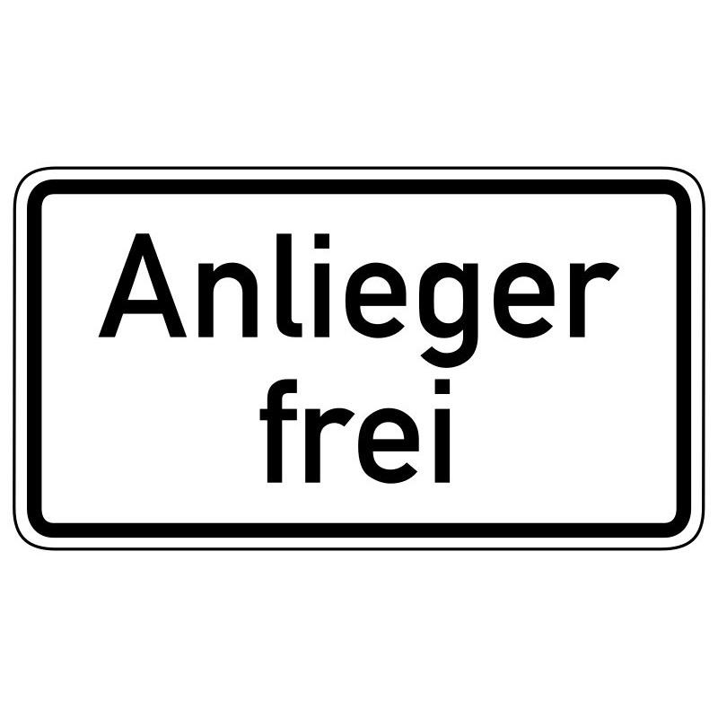 Anlieger frei - StVO-1020-30