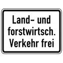 Land- und Forstwirtsch. Verkehr frei - StVO-1026-38